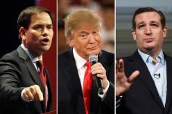 """Insultos """"al pecho"""" entre aspirantes republicanos, con Donald Trump en primer plano"""