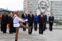 Barack Obama, el mismisimo presidente de EEUU, en la Plaza de la Revolucion de La Habana, Cuba