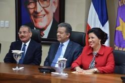 Leonel, Margarita y Danilo apareceran juntos en un acto en San Souci antes de que finalice este marzo