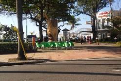 El pilon gigante de Adrian Tropical para su mofongo