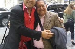 """Anibal Paez y El Pacha """"chocan"""" coincidencialmente en una calle de Nueva York"""