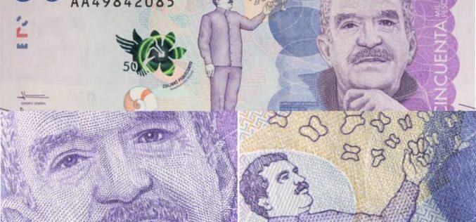 Gabriel García Márquez en un billete de 50 mil pesos colombianos