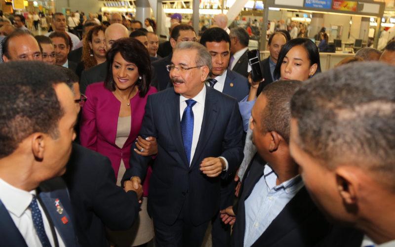 El presidente Medina y la Primera Dama llegano a Nueva York la tarde-noche de este lunes para participar en asamblea de la ONU