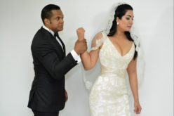 Alex Matos y Anabell Alberto en «Marcha de las novias» contra violencia a la mujer