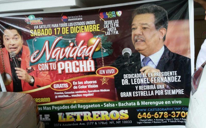 El Pachá dedicará a Leonel Fernandez celebración del quinto aniversario de su programa Pégate y Gana