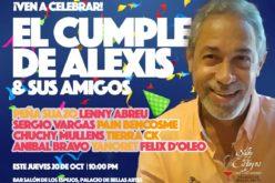 Félix D'Oleo, Peña Suazo, Lenny Abreu, Tony Almont, al bar Salón de los Espejos este jueves… ¡Alexis está de cumple…!