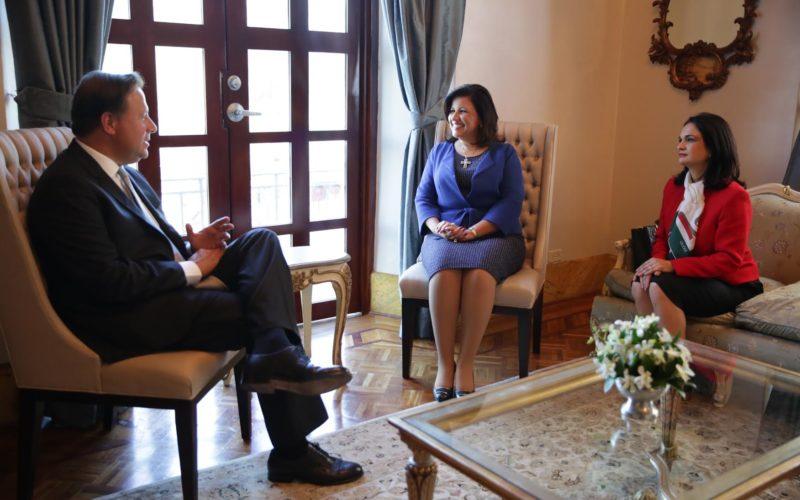 La vice Margarita Cedeño en Panamá con intercambio de politicas sociales