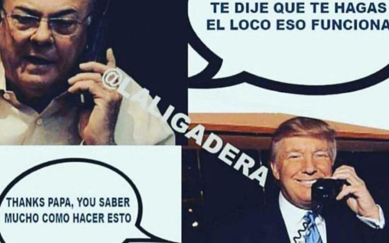 El meme con Hipolito Mejia y Donald Trump…