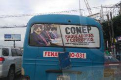 """Presentan empresarios con """"caras de gatos"""" y los acusan de corruptos; la del Conep y los transportistas es una guerra a muerte"""