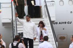 (Video) Nicolás Maduro llegando a RD para participar en la Quinta Cumbre de CELAC