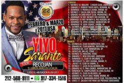 Yiyo Sarante desborda los límites de febrero en su gira EEUU y sigue para marzo… Vidal Cedeño, guapo…