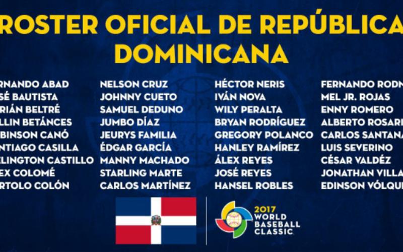 El equipo que representara a RD en el Clasico Mundial de Beisbol