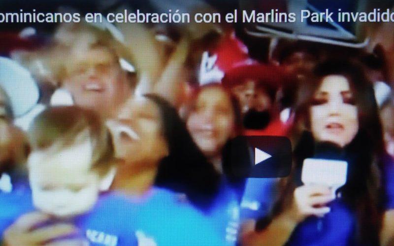 (Video) Dominicanos salen derrochando alegría del Marlins Park y van con su algarabía al Petco Park/San Diego… Arriba RD/CMB!!