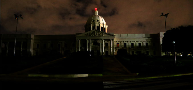 El Palacio Nacional otra vez a oscuras por La Hora del Planeta…