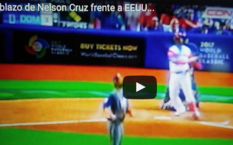 (Videos) Los tablazos de Nelson Cruz y Starling Marte frente a Estados Unidos en el Clasico Mundial de Beisbol 2017