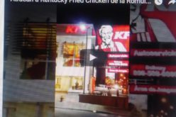 (Video) Atracan Kentucky Fried Chicken de Bella Vista y cargan con cerca de RD$200 mil esta madrugada