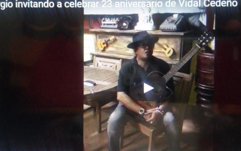 (Video) Sergio Vargas invitando al 23 aniversario de Vidal Cedeño en el negocio del espectáculo de Nueva York