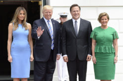 El presidente Donald Trum recibiendo a su homólogo de Panamá, Juan Carlos Varela, en la Casa Blanca