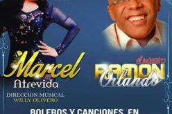 Marcel y Ramón Orlando en una actuacion especial en Lucía…