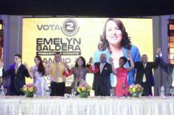 Emelyn Baldera con su equipo de trabajo y su propuesta como candidata a la presidencia de Acroarte