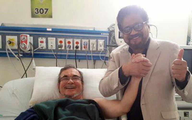 Timochenko, de las FARC, se recupera «estasble y tranquilo», además de sonriente, tras sufrir un accidente cerebrovascular
