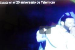 (Video) Un «chin» de Yiyo Sarante en la celebración del 20 aniversario de Telemicro