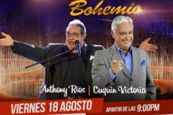 El «Humor bohemio» de Cuquin Victoria y Anthony Ríos a Escenario 360 este viernes