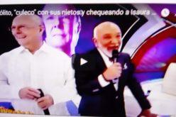 (Video) Hipólito, «culeco» con sus nietos, «tragó en seco» para reconocerle a Jochy Santos que Isaura Taveras se ve bien