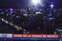 (Video) Presentador empezó a sentir el terremoto en Mexico y abandonó el set de tv para irse a resguardar a lugar más seguro