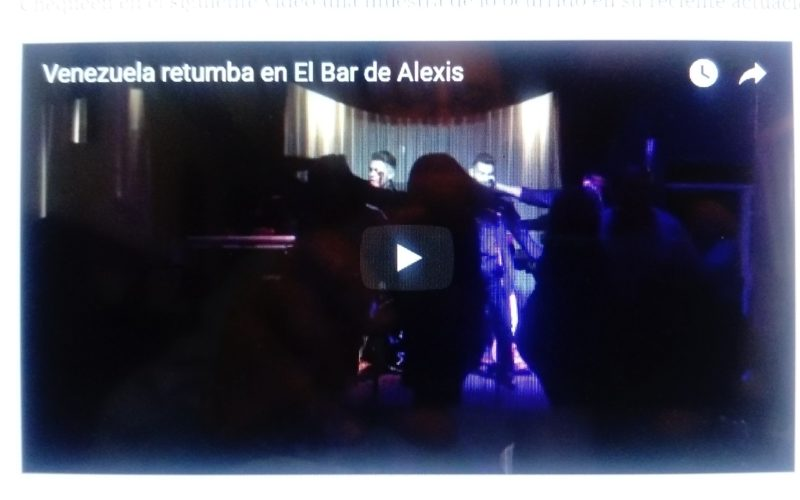 (Video) Venezuela retumba en el Bar de Alexis con la música de KY3