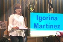 (Video) Igorina, la esposa de El Pachá, sigue los pasos a su hijo Igor y también predica en iglesia evangélica