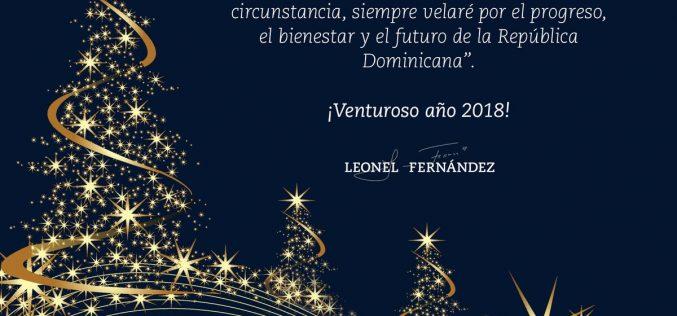 Leonel y su mensaje con motivo del nuevo año 2018
