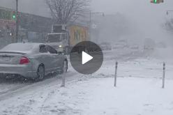 (Video) Así se ve Nueva York, golpeada por la nieve y gélidos vientos, en un reporte de JoselitoNY