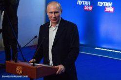 Vladimir Putin logra la reelección en Rusia con 76.6% de los votos con el 99.83% escrutados