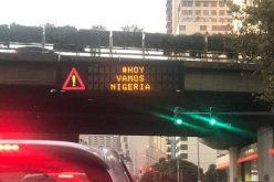 Buenos Aires tiene letreros lumínicos de tránsito hoy que apuestan a Nigeria frente a Islandia en Mundial de Rusia