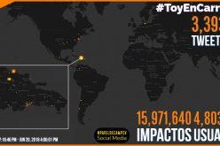 """El """"carreteo"""" fue """"tendencia de alta actividad"""" en Twitter; logró 16 millones de impactos en cerca de 5 millones de usuarios"""
