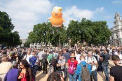 Protestan en Londres por visita de Donald Trump