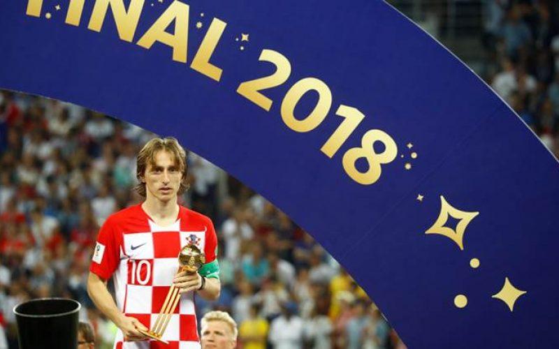 El croata Luka Modric se llevó el Balón de Oro como mejor jugador de la Copa Mundial Rusia 2018