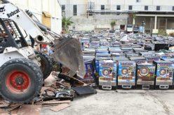 Más de mil máquinas tragamonedas y cajones destruidos por la Procuraduría General de la República