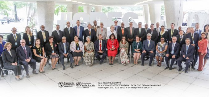 Ministros de Salud, incluido el de RD, participan en reunión del Consejo Directivo de la OPS y OMS