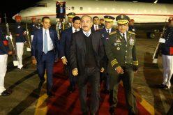 El presidente Medina de regreso al país luego de su visita de Estado a la República Popular China