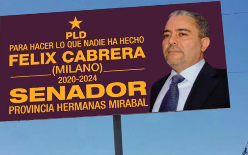 El empresario artístido dominicano establecido en NY Félix Cabrera, como El Torito, bsuca ser senador