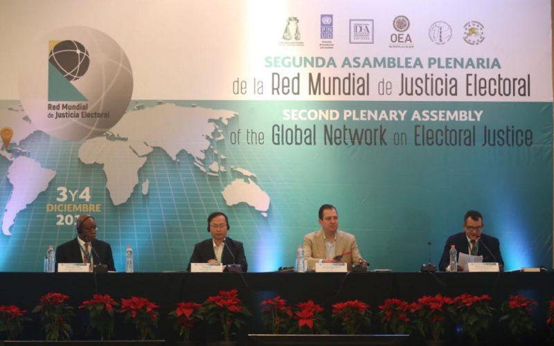 Presidente TSE-RD participa en asamblea plenaria de Red Mundial de Justicia Electoral
