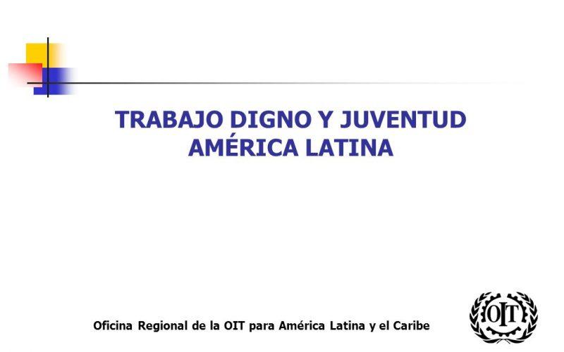 Marginalidad y desempleo juvenil en América Latina
