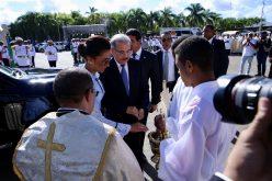 El presidente Danilo Medina y la primera dama, Candida Montilla de Medina, en Higüey por misa con motivo del Día de la Altagracia