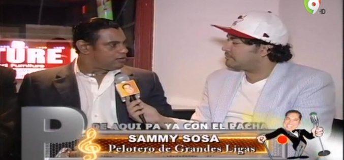 """El Pachá reconocerá a Sammy Sosa en su programa: """"Es todo un ícono de la MLB; un dominicano que junto a McGwire rescató el béisbol cuando estaba de capa caída"""""""