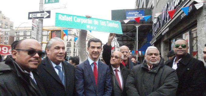 Ya pusieron el nombre Rafael Coporán de los Santos a calle de Nueva York