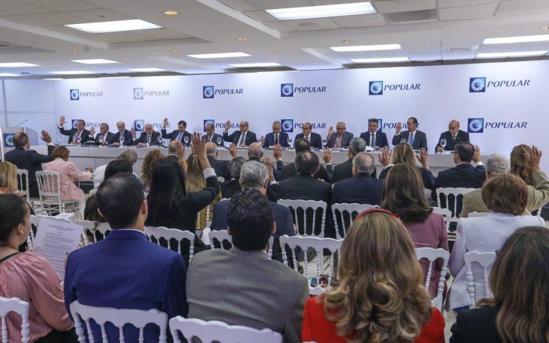 Banco Popular realizó Asamblea de Accionistas; valora resultados positivos en el 2018