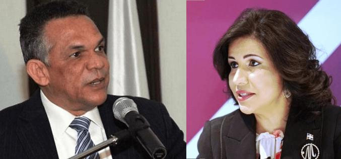 Administrativo Peralta sale en defensa de Ventura Camejo ante críticas que hizo a éste la vice Margarita