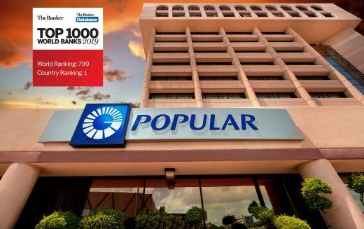 Banco Popular Dominicana asciende 8 posiciones entre los mil mejores bancos del mundo